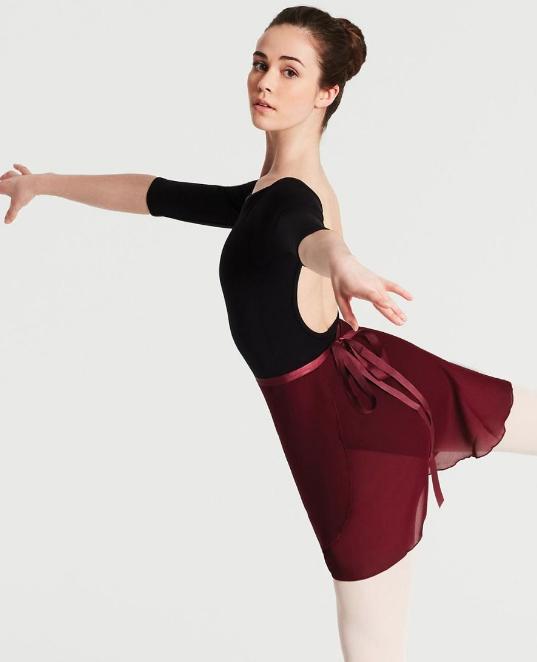 N272 Capezio Georgette Wrap Skirt