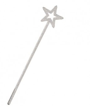White Glitter Star Wand (UA528)