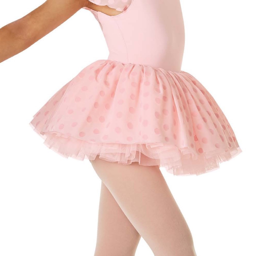 MS126C Polka Dot Mesh Tutu Skirt