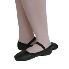 ASP/L Freed Aspire Black Leather Ballet Shoe