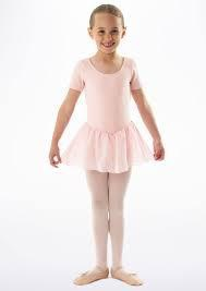 CL5342 Bloch Short Sleeved Girls Leotard with Chiffon Skirt (Tiffany)