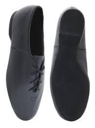 Roch Valley Black Rubber Sole Jazz Shoes