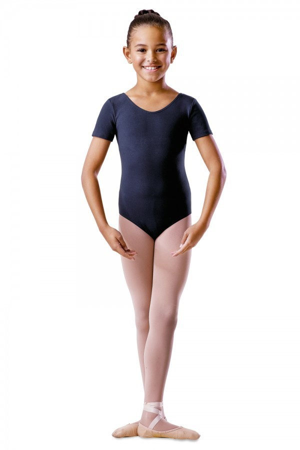 BU202C Round Neck Capped Sleeve Girls Leotard