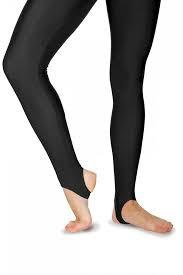 KDTC01 Katz Cotton/Lycra Black Stirrup Tights