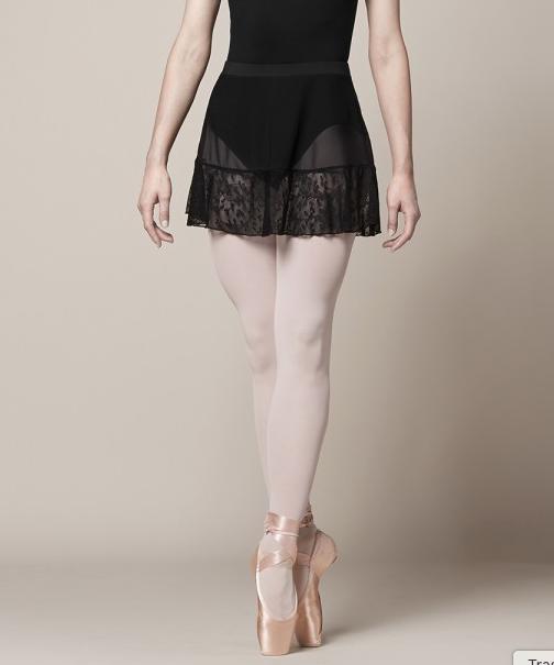 MS153 Olivina Lace Trim Skirt