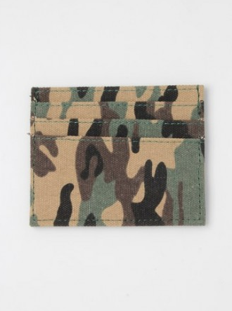 Camouflage fabric card holder