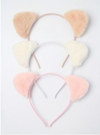 Faux fur cat ears headband